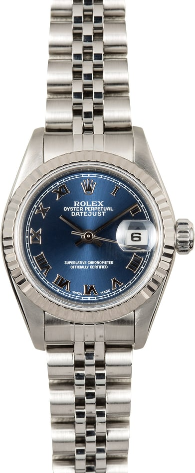 Rolex Lady-Datejust 79174 Blue Roman
