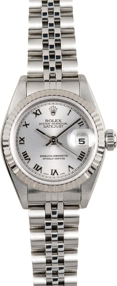Rolex Lady-Datejust 79174 Rhodium Roman