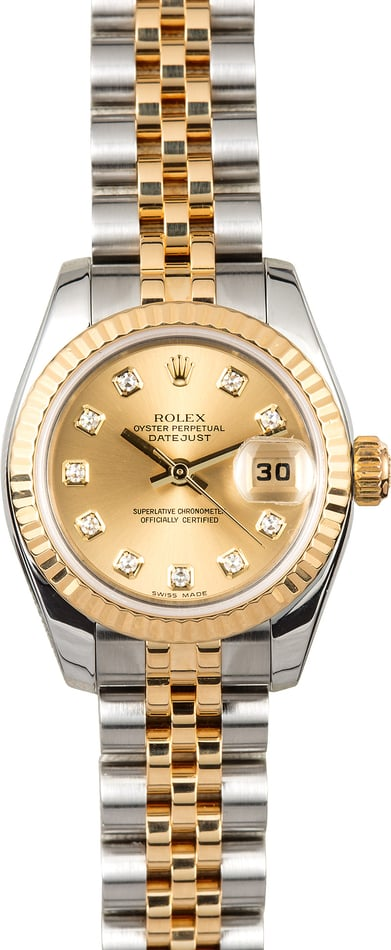 Rolex Lady-Datejust Diamond 179173 Champagne