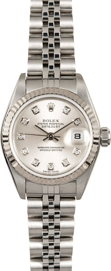 Rolex Lady-Datejust 79174 Silver Diamond Dial