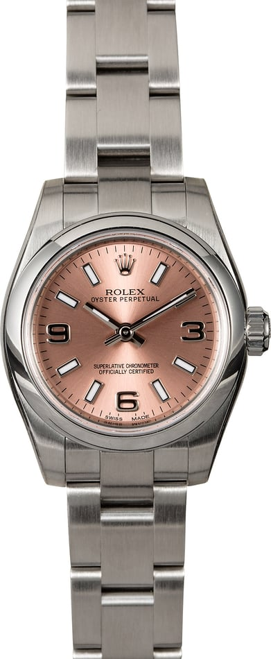 Ladies Rolex Oyster Perpetual 176200 Pink Dial