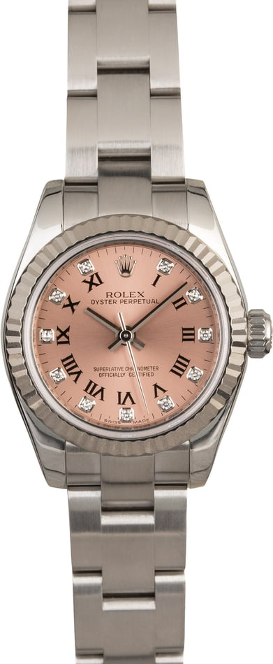 Rolex Lady Oyster Perpetual 176234 Pink Diamond Dial