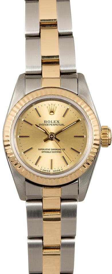 Rolex Oyster Perpetual 67193 Two Tone Oyster