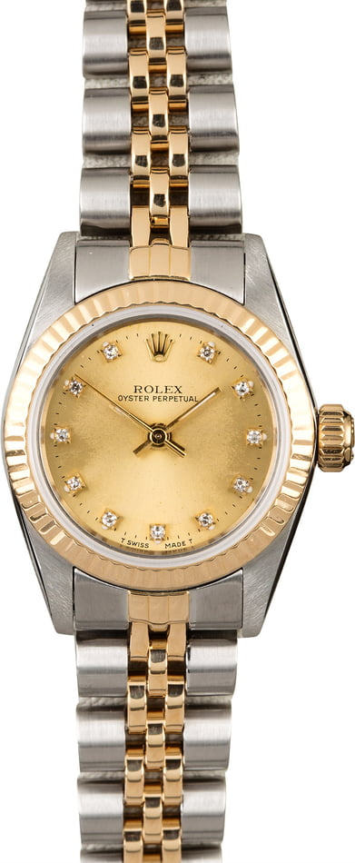 Rolex Oyster Perpetual 67193 Diamond Dial