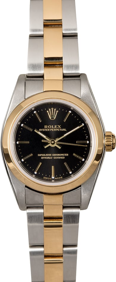 Ladies Rolex Oyster Perpetual 76183 Two Tone Oyster