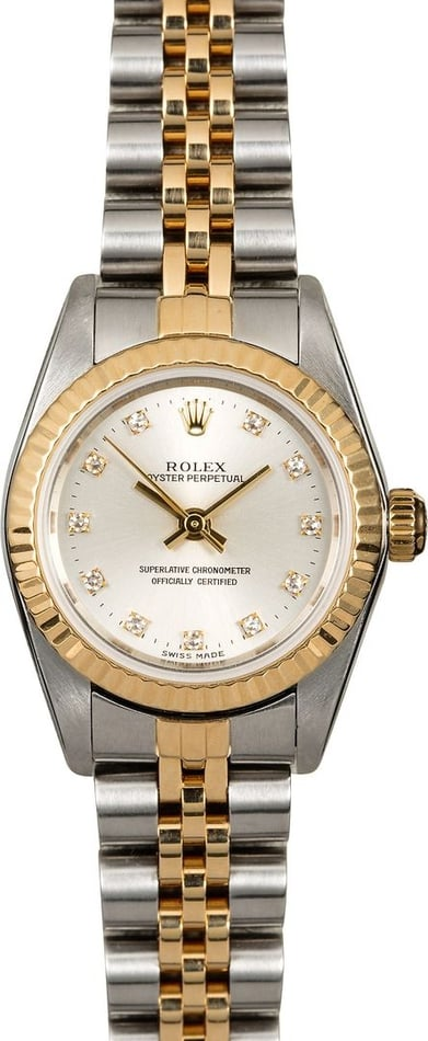 Women's Rolex Oyster Perpetual 76193 Diamond