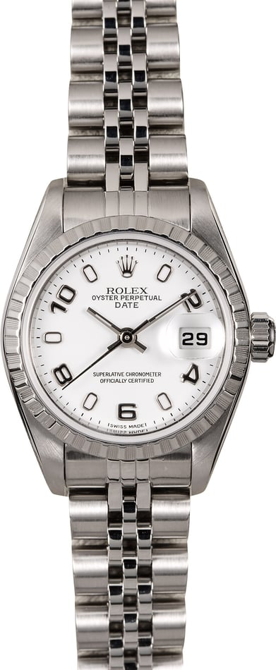 Rolex Ladies Date 79240 White Dial