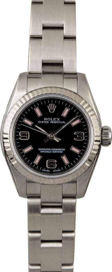 Rolex Oyster Perpetual 176234 Black and Pink