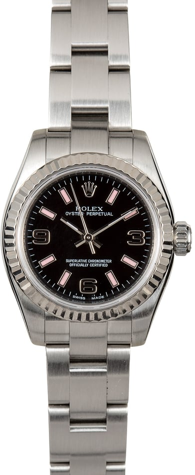Ladies Rolex Oyster Perpetual 176234 Black and Pink