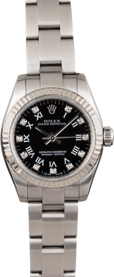 Rolex Ladies Oyster Perpetual 176234 Diamond Dial