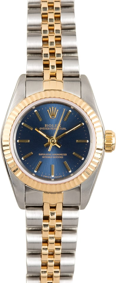 Rolex Lady Oyster Perpetual 67193 Blue