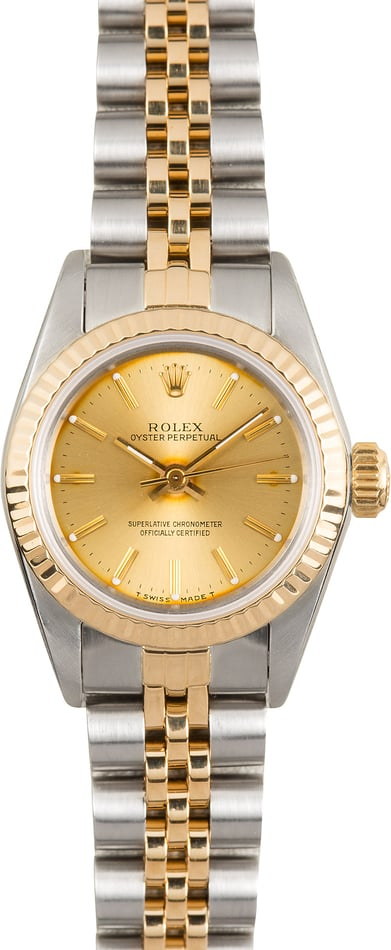 Rolex Lady Oyster Perpetual 67193 Champagne