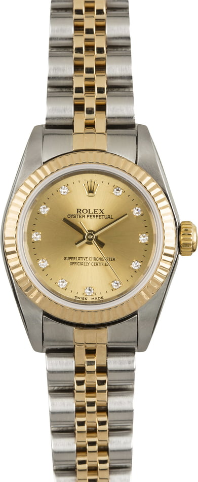 Used Rolex Oyster Perpetual 76193 Diamond Dial