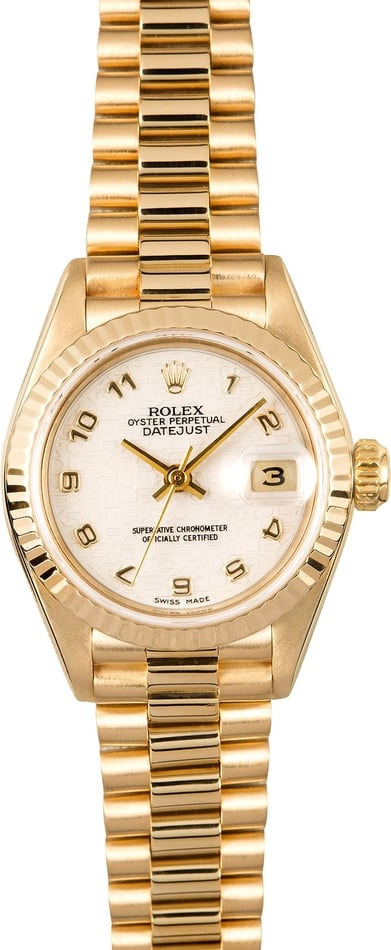 Rolex Lady President 69178 100% Authentic