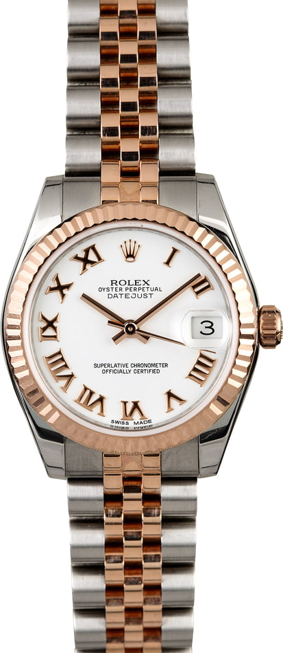 Rolex Mid-Size Datejust 178271 Two Tone Everose