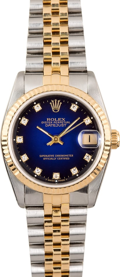 Rolex Mid-Size Datejust 68273 Diamond
