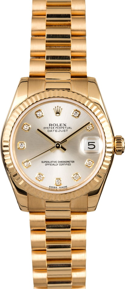 Rolex Mid-Size President 178278 Diamond Dial
