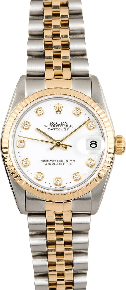 Rolex Mid-size Datejust 78273 Diamond Dial