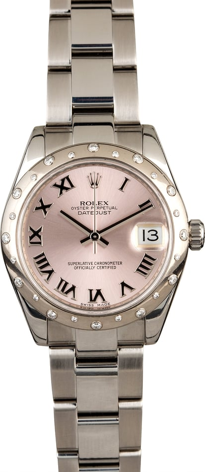 Rolex Mid-size Datejust 178344 Pink Dial