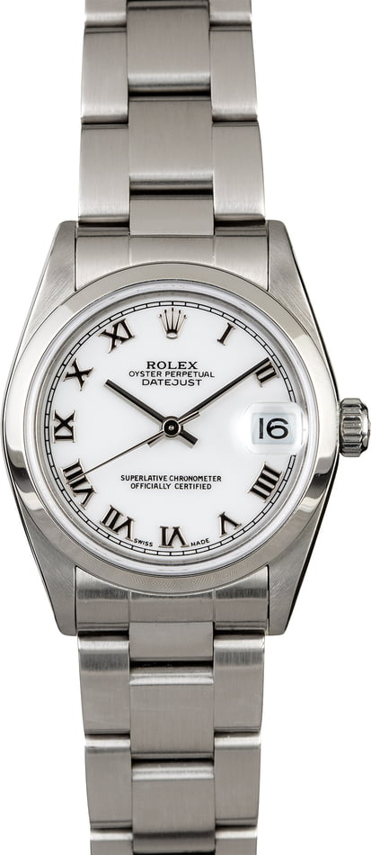 Rolex 31MM Datejust 78240 White Roman