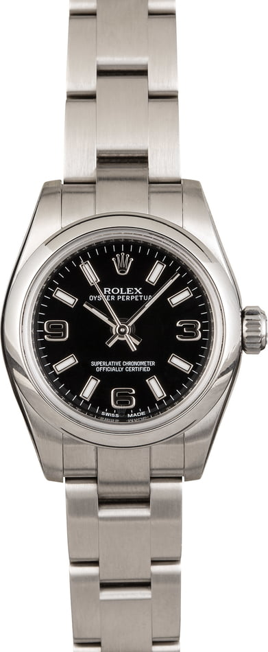 Rolex Oyster Perpetual 176200 Black Arabic Dial