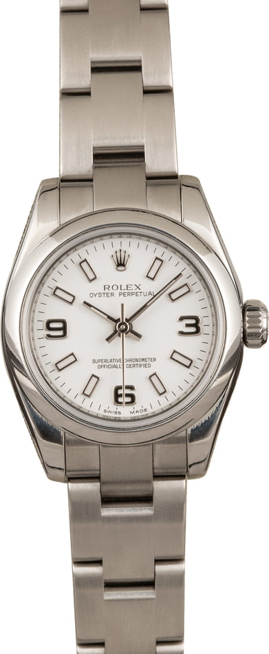 Pre-Owned Rolex Ladies Oyster Perpetual 176200 White Dial