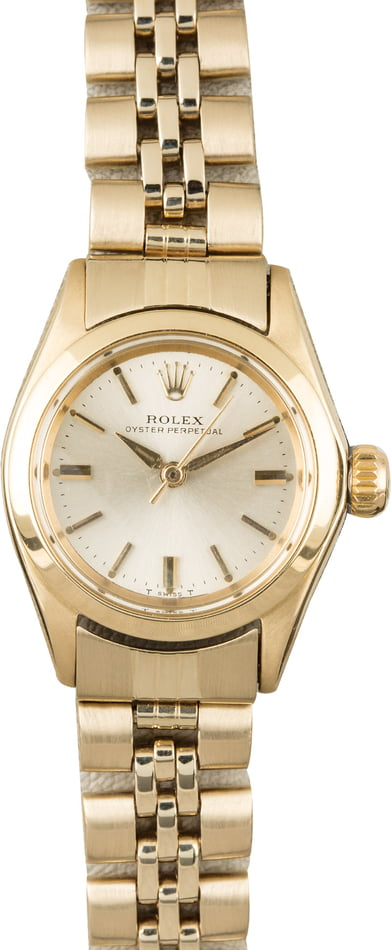 Used Rolex Oyster Perpetual 6618 Yellow Gold Honeycomb Band