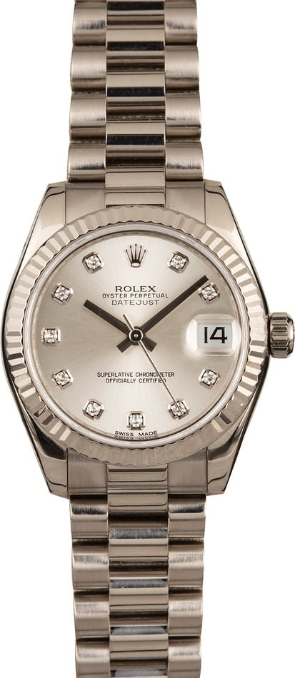 Used Rolex Ladies President 178279 Diamond Dial