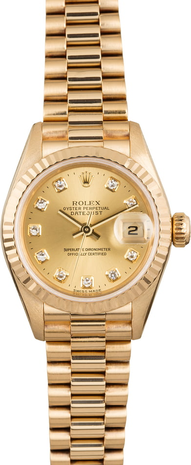 Pre Owned Rolex President 79178 Champagne Diamond Dial