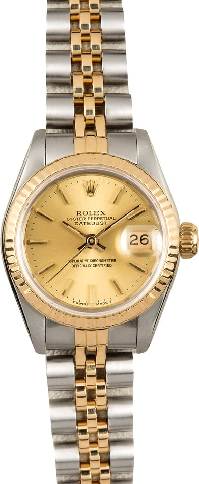 Rolex Two-Tone Lady-Datejust 69173 Champagne