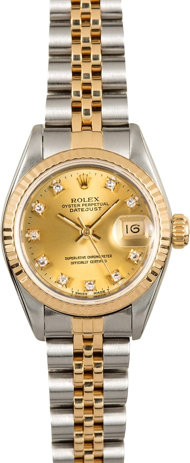 Rolex Two-Tone Lady-Datejust 69173 Diamond