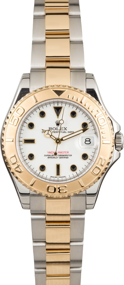 Pre Owned Rolex Yacht-Master 168623 White Dial