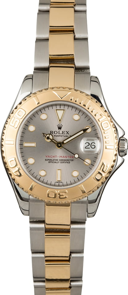 Pre Owned Rolex Yacht-Master 68623 Mid-Size Slate Dial