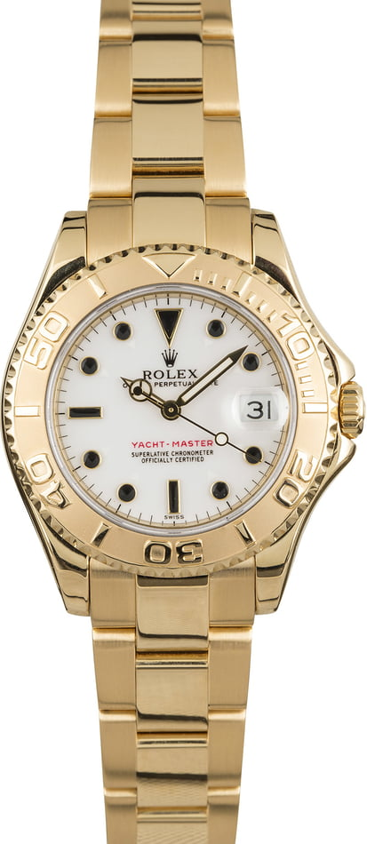 Mid-Size Rolex Yacht-Master 68628 18K Yellow Gold