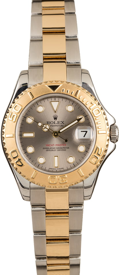 Rolex Mid-Size Yacht Master 168623 Slate Dial