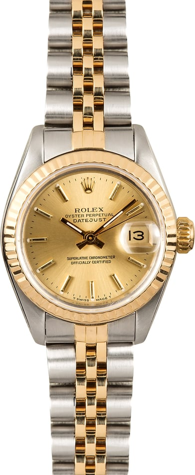 Two-Tone Rolex Lady-Datejust 69173 Champagne