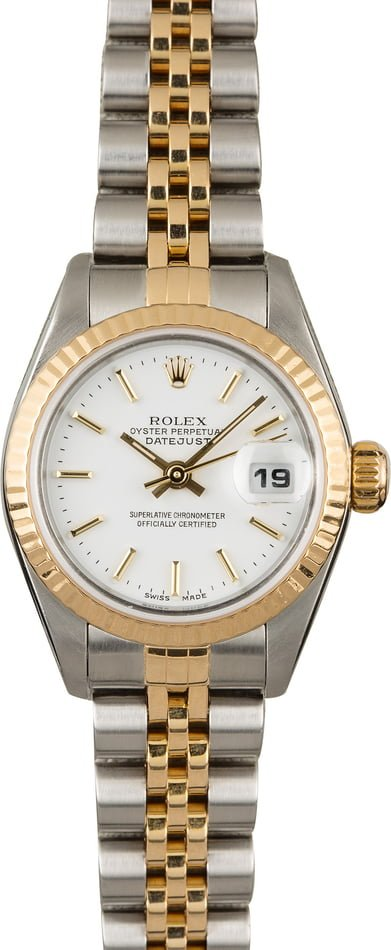 Used Rolex Datejust 79173 White Index Dial