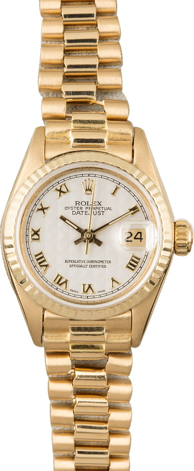 Used Ladies Rolex Presidential 69178 Fluted Bezel