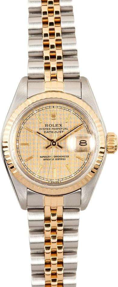 Ladies Rolex 69173 Houndstooth Dial