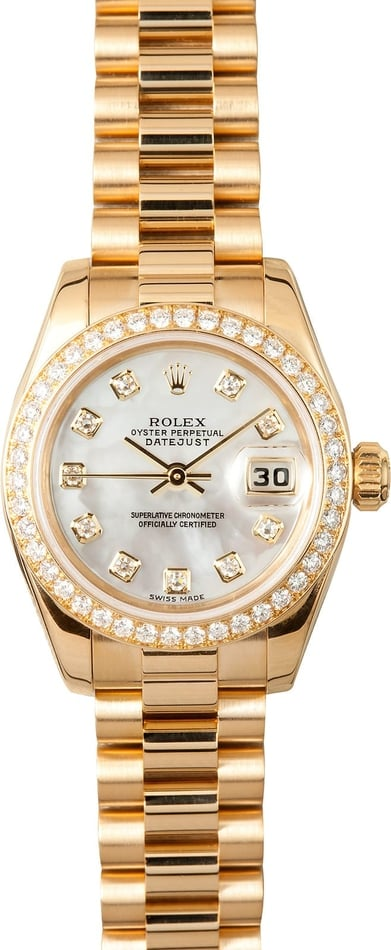 Ladies Gold Rolex President 179138