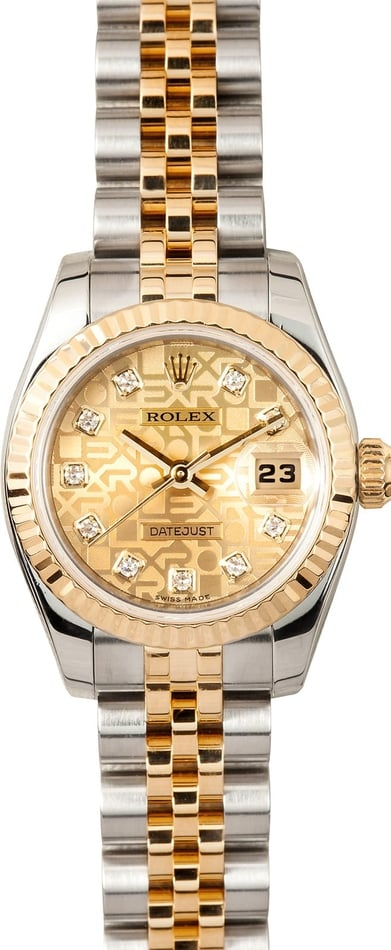 Ladies Rolex Datejust Jubilee Diamond Dial 179173