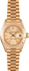 Used Rolex Ladies President Watch Model 6917