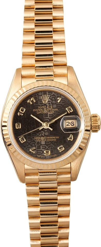 Lady Rolex President Gold 69178
