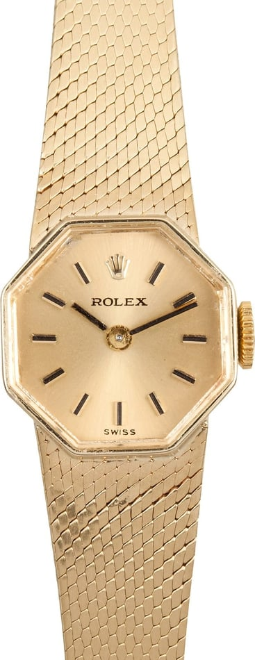 Rolex Ladies Gold Cocktail