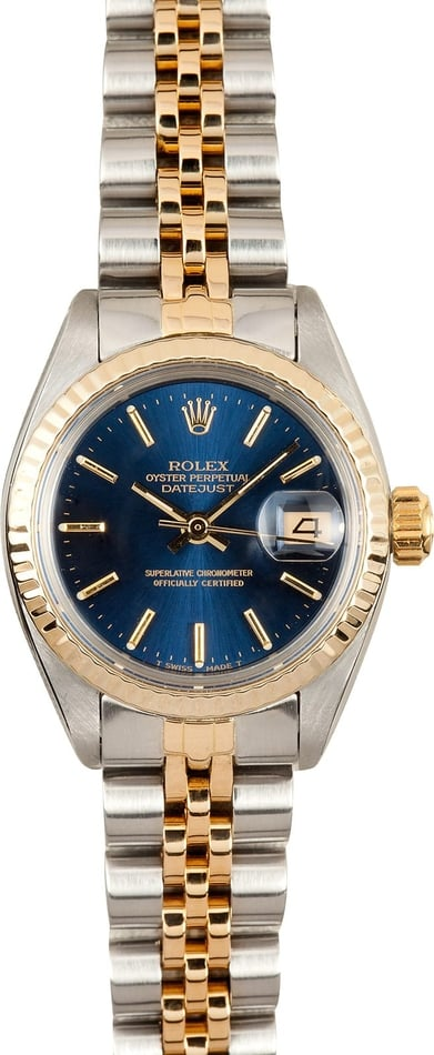 Lady Rolex Datejust Blue Dial 6917