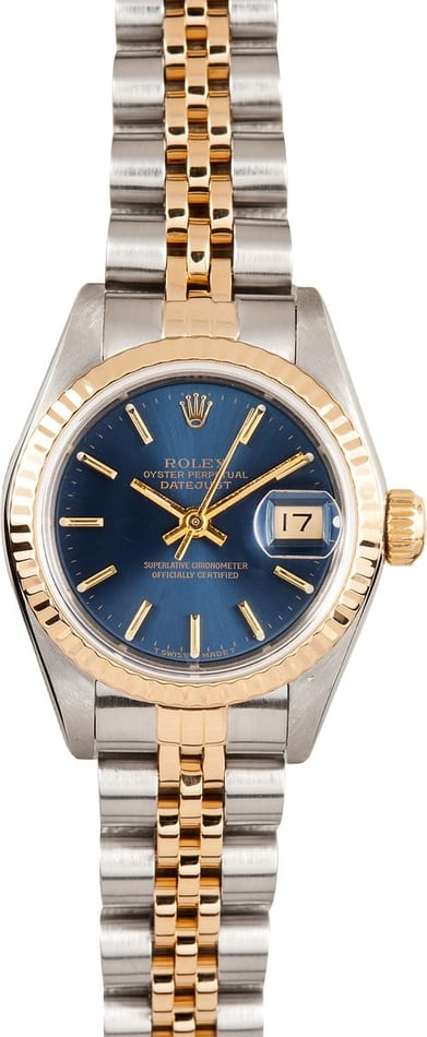 Ladies Used Rolex Oyster Perpetual Stainless and Gold Watch 69173