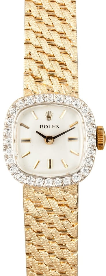 Buy Ladies Rolex Watch Yellow Gold Diamond Bezel - Bob's ...