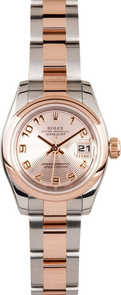 Womens Rolex DateJust 179161 18k Rose Gold
