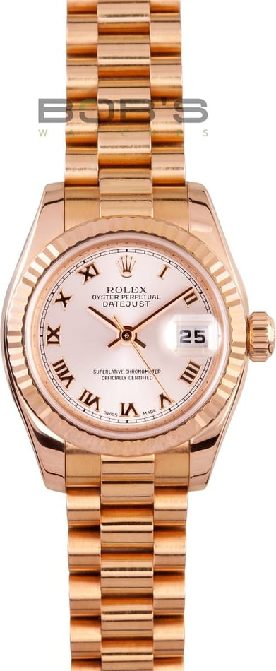 Ladies Rolex Presidential Rose Gold