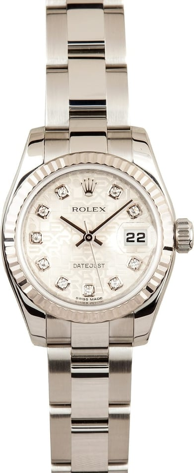 Ladies Used Rolex Diamond Dial 179174